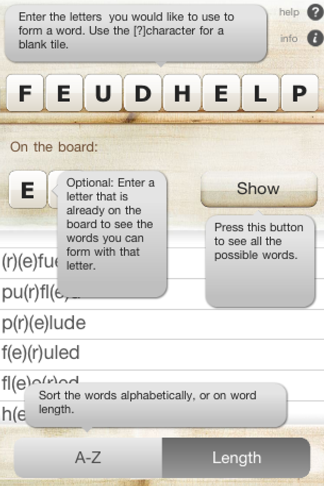 Screenshot Feud Helper EN